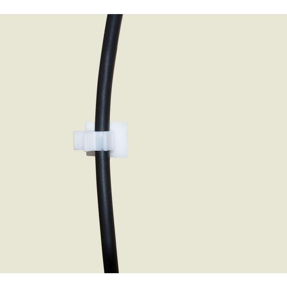 """12 Wire Harness 1/"""" Clip Large White Nylon Clip    L42"""