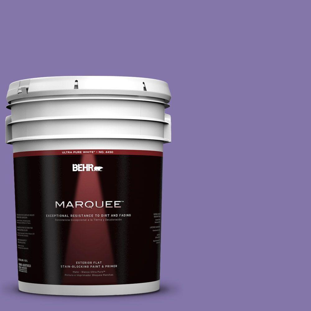 BEHR MARQUEE 5-gal. #640B-6 Grape Parfait Flat Exterior Paint