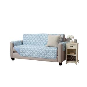 Great Bay Home Adalyn Collection Marine Blue Printed Reversible Sofa Furniture... by Great Bay Home