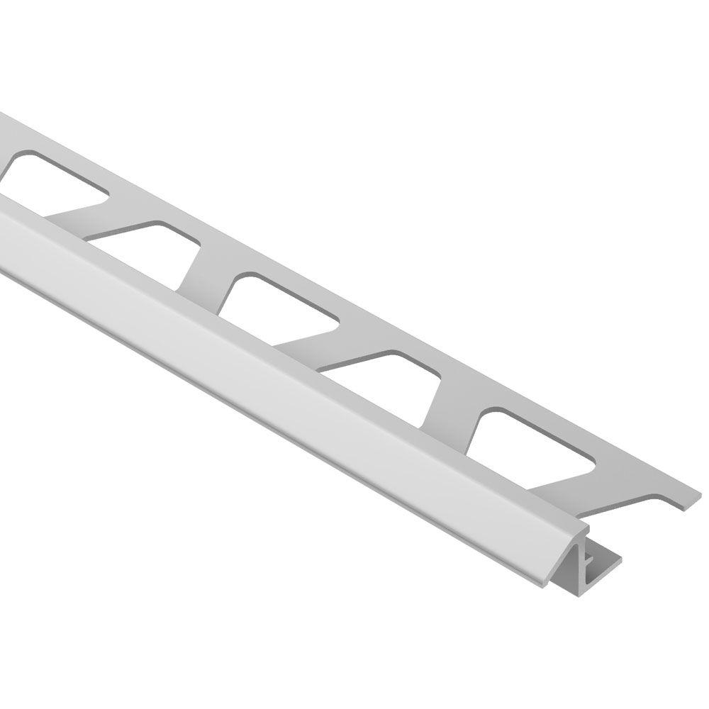 Schluter Reno-TK Satin Anodized Aluminum 3/8 in. x 8 ft. 2-1/2 in. Metal Reducer Tile Edging Trim