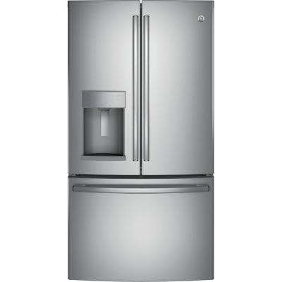 22 2 cu  ft  French Door Refrigerator in Stainless Steel, Counter Depth