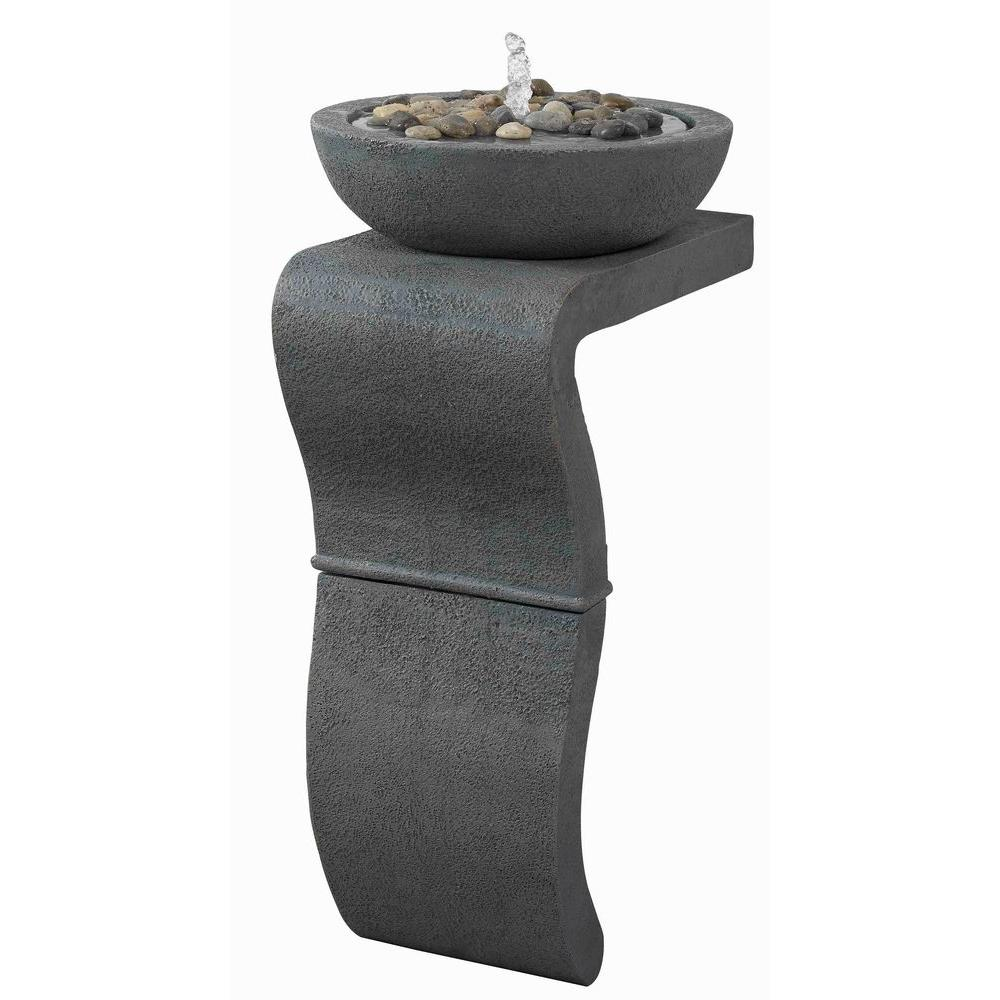 Kenroy Home Sinuous Indoor 31 in. Floor Fountain-DISCONTINUED