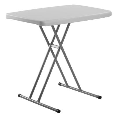 20 in. x 30 in. Speckled Grey High-Density Polyethylene (HDPE) Top Height Adjustable Personal Folding Table