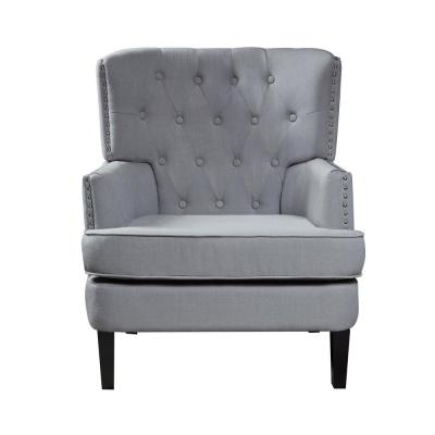 Gray Polyester Accent Chair