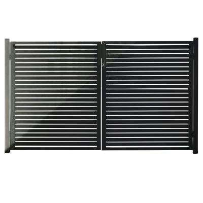 Quick Screen 3.33 ft. x 5.91 ft. x 0.20 ft. Aluminum Gate in Black for fence panels