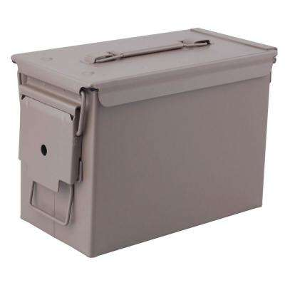 Military Grade 0.50 Cal Metal Tactical Ammo Storage Box in Dark Earth