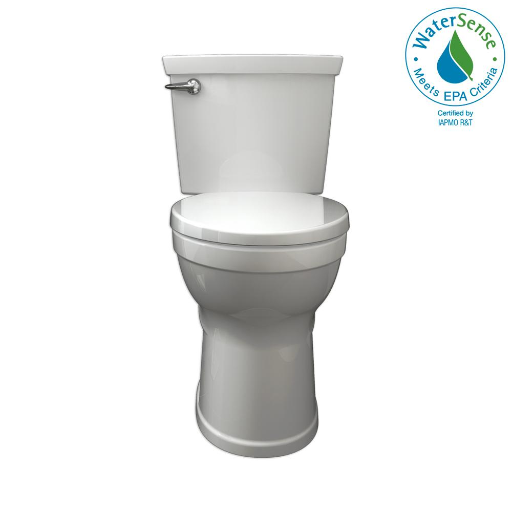 f9319d03ee869 Champion 4 Max Tall Height 2-Piece High-Efficiency 1.28 GPF Single Flush  Elongated Toilet in White with Slow Close Seat