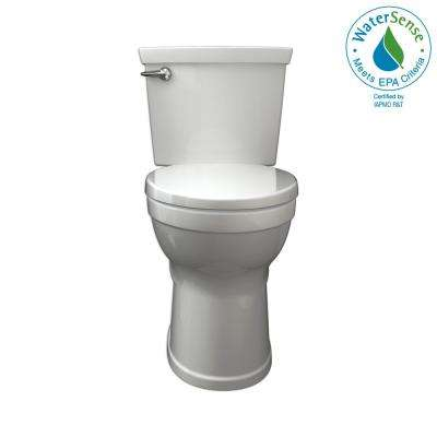 Champion 4 Max Tall Height 2-Piece High-Efficiency 1.28 GPF Single Flush Elongated Toilet in White with Slow Close Seat