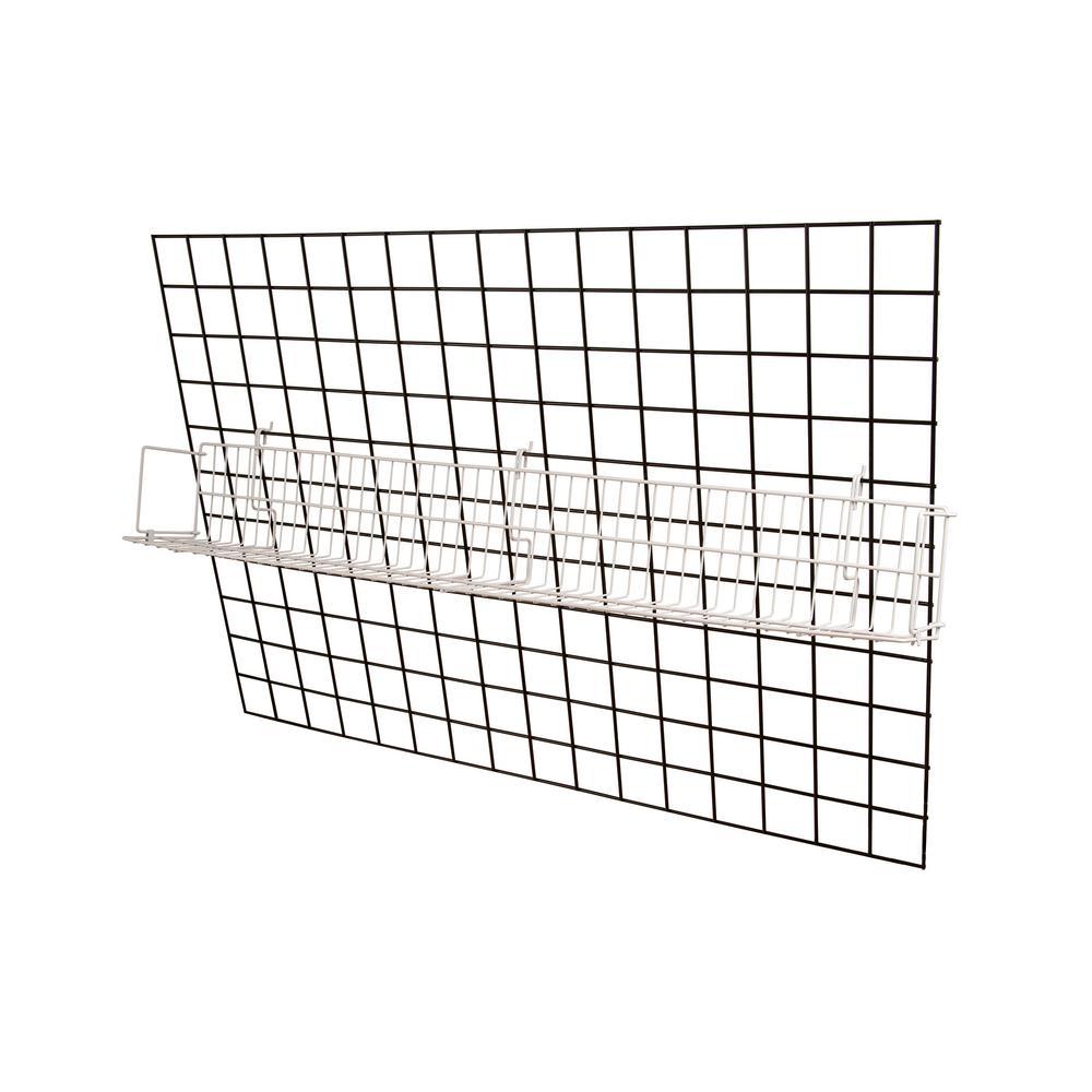 48 in. W x 6.5 in. D x 6.5 in. H White All Purpose Electronics Shelf