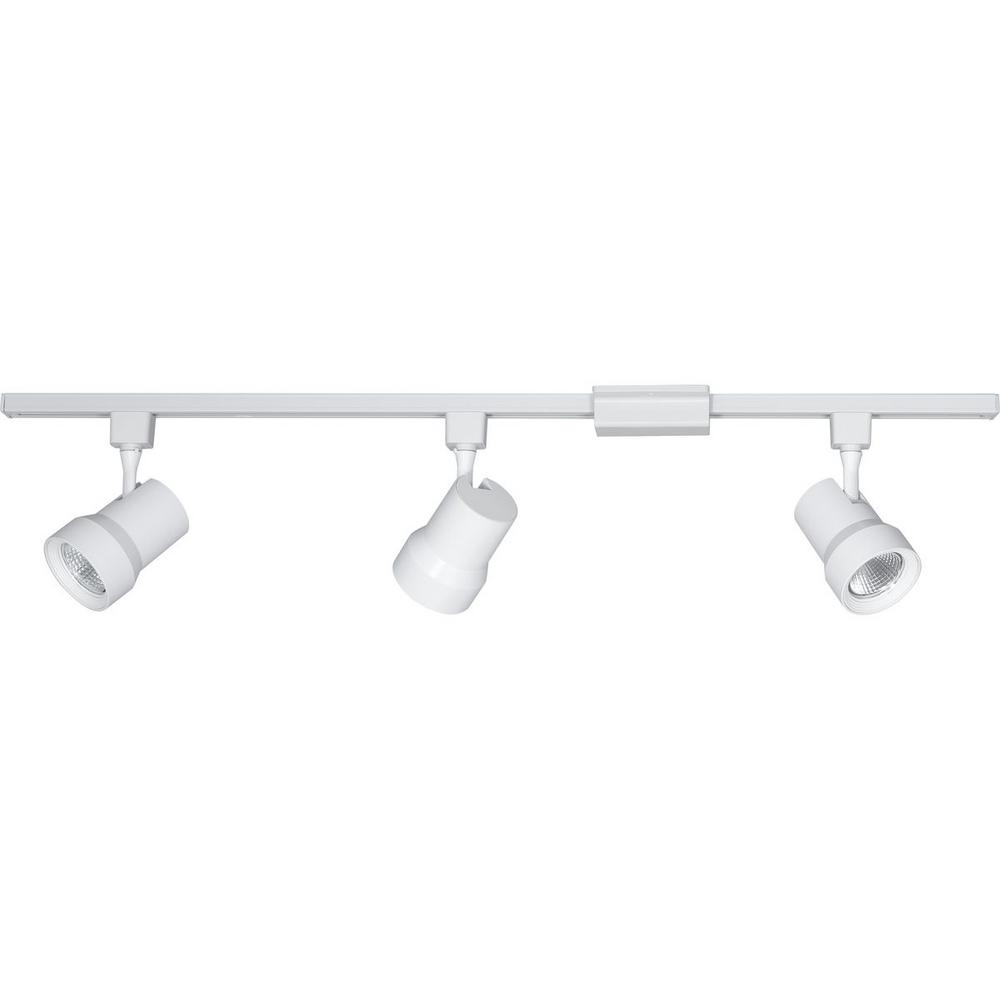 Progress Lighting 4 Ft 3 Light White Integrated Led Track Kit