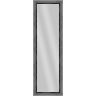 Large Rectangle Stainless Silver Art Deco Mirror (52.25 in. H x 16.25 in. W)