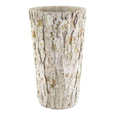 8-1/2 in. Weathered Oak Cement Vase Planter