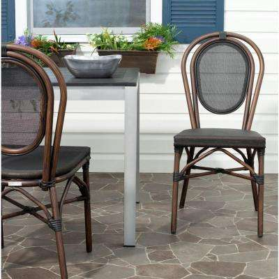 Ebsen Black Textile Aluminum Patio Side Chair (2-Pack)