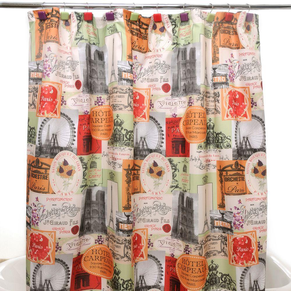 Paris Cafe Multi Shower Curtain