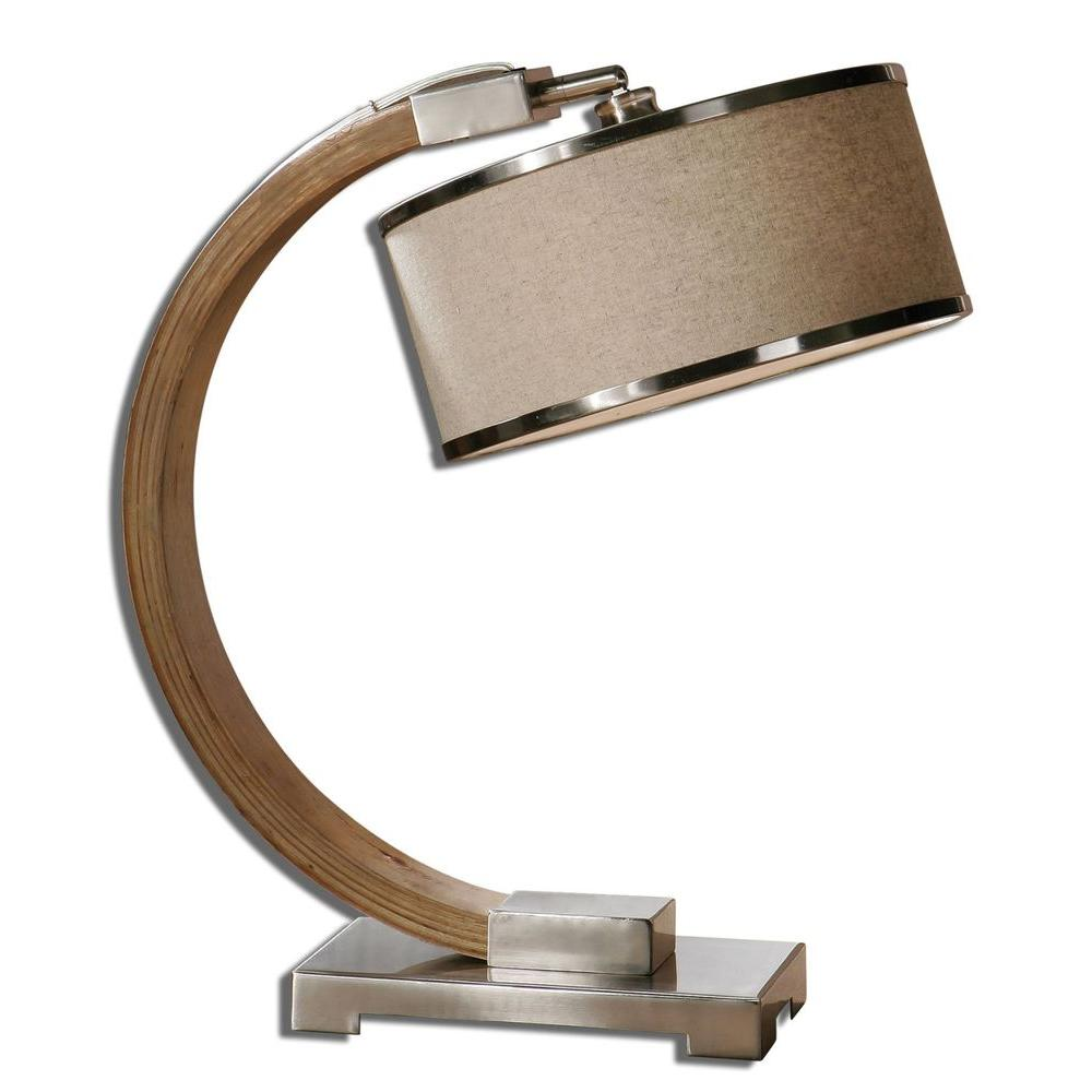 Global Direct 21 in. Woodtone Desk Lamp