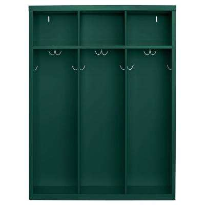 1-Shelf Steel Open Front Kids Locker in Green