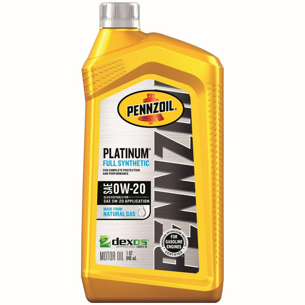 0w 20 Vs 5w 20 >> Pennzoil 1 Qt Sae 0w 20 Platinum Full Synthetic Motor Oil