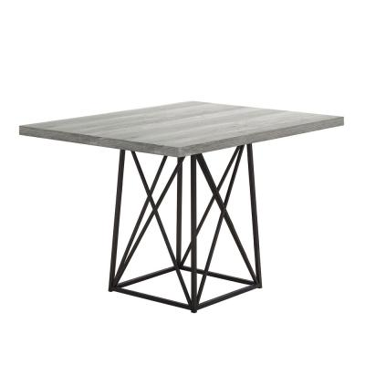 Jasmine Grey,Black Metal Dining Table for (Seats of 4)