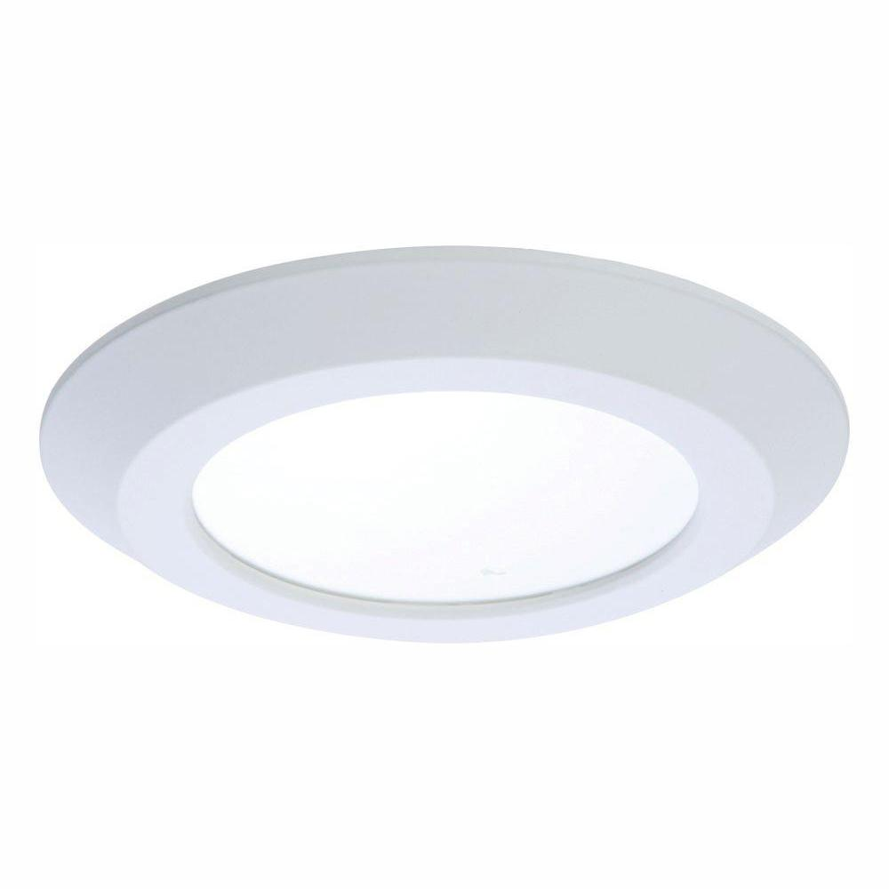 Halo 5 in and 6 in 4000k white integrated led recessed ceiling mount light trim at 1000 lumens cool white