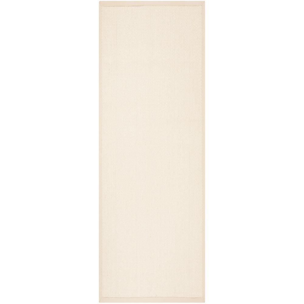 Safavieh Natural Fiber Ivory/Light Beige 2 ft. 6 in. x 8 ft. Indoor Runner Rug