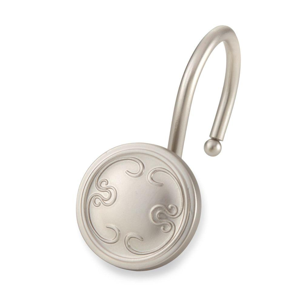 Elegant Home Fashions Touch Up Shower Hooks In Brushed Nickel