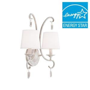 Feiss Caprice 2-Light Chalk Washed Wall Bracket by Feiss