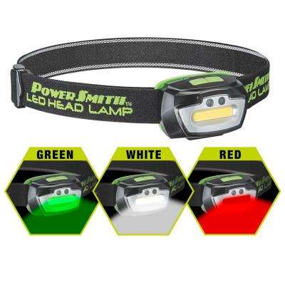 230 Lumens Head Lamp with Motion Activated Sensor, Adjustable Head Band, 3 AAA Batteries and White/Green/Red Lamp Modes