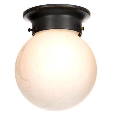 Millbridge 1-Light Oil Rubbed Bronze Ceiling Light Fixture
