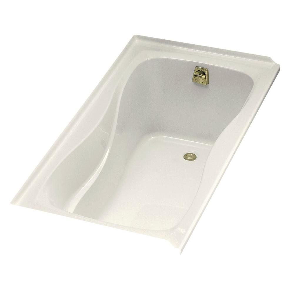 KOHLER Hourglass 5 ft. Alcove Bath with Right-hand Drain in Biscuit