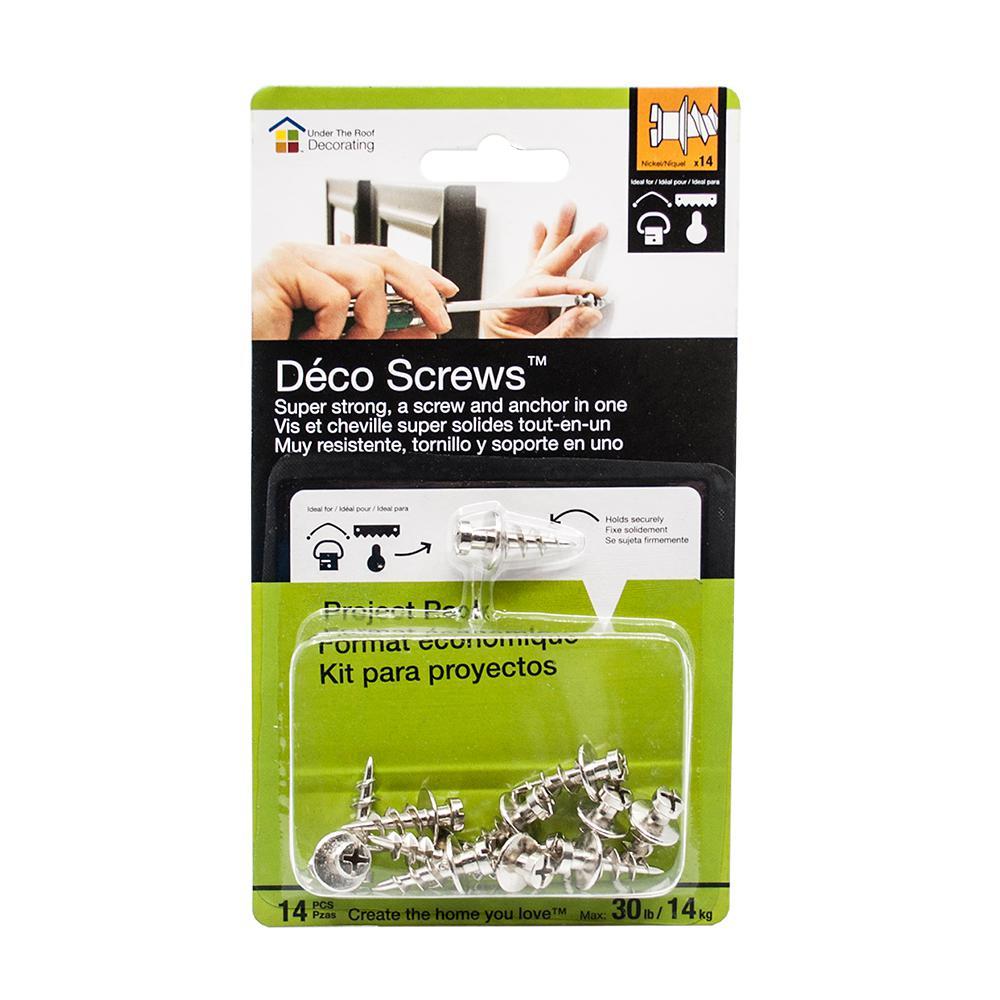 Deco Screws Nickel 30 lbs. Project Pack