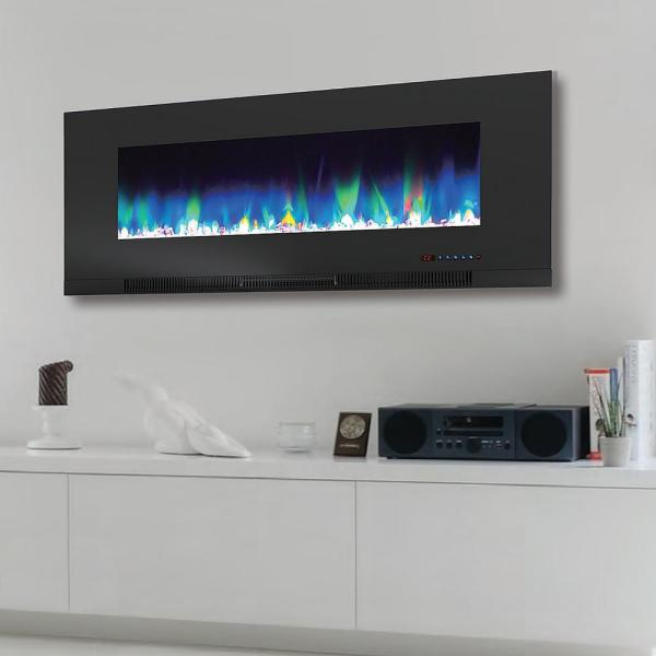 Paramount Mirage 42 In Wall Mount With Multi Color Flames Ef Wm362 Mo The Home Depot