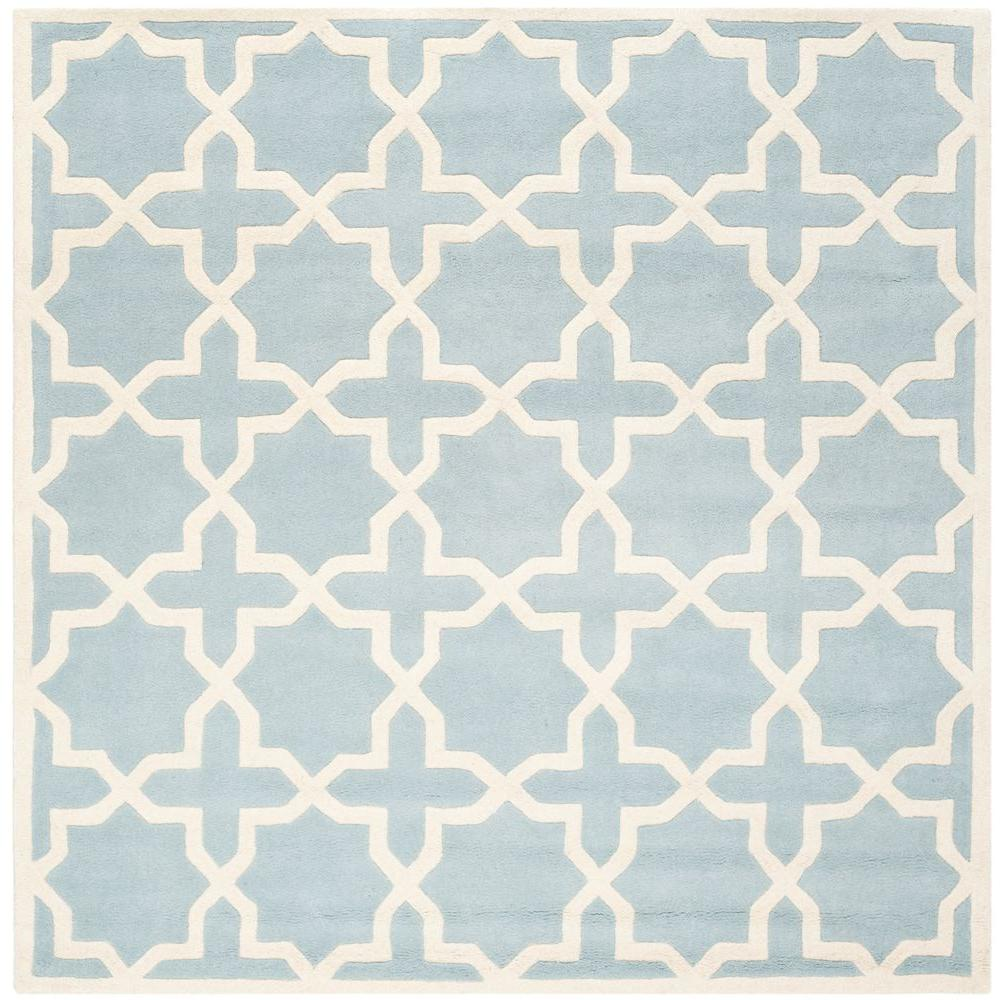 Chatham Blue/Ivory 5 ft. x 5 ft. Square Area Rug
