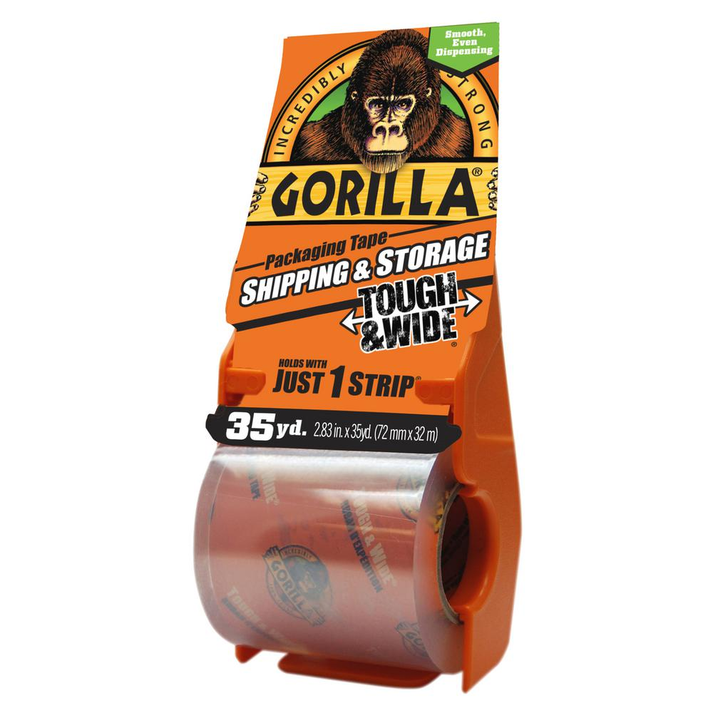Gorilla Gorilla 2.83 in. x 35 yds. Shipping Tape with Dispenser (6-Pack), Clear