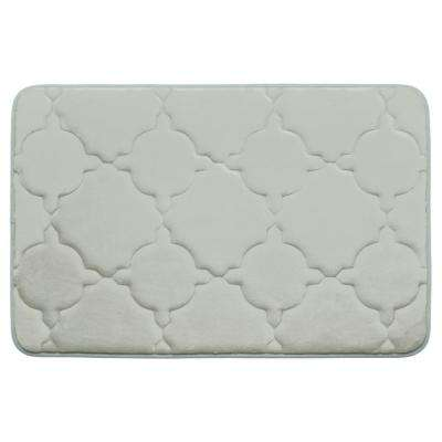 Dorothy Light Gray 20 in. x 32 in. Memory Foam Bath Mat