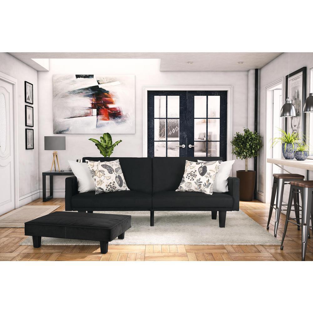 living room futon. Metro Black Futon Futons  Sofa Beds Living Room Furniture The Home Depot