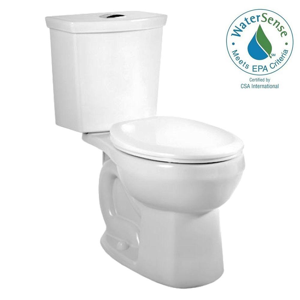 American Standard H2Option 2-piece 1.6 GPF Dual Flush Round Toilet in White