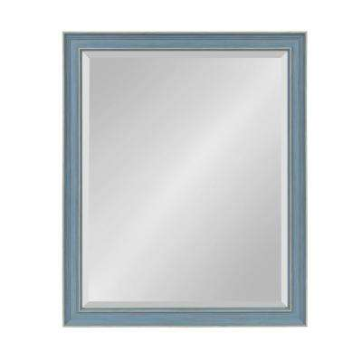 Harvest Rectangle Blue Wall Mirror