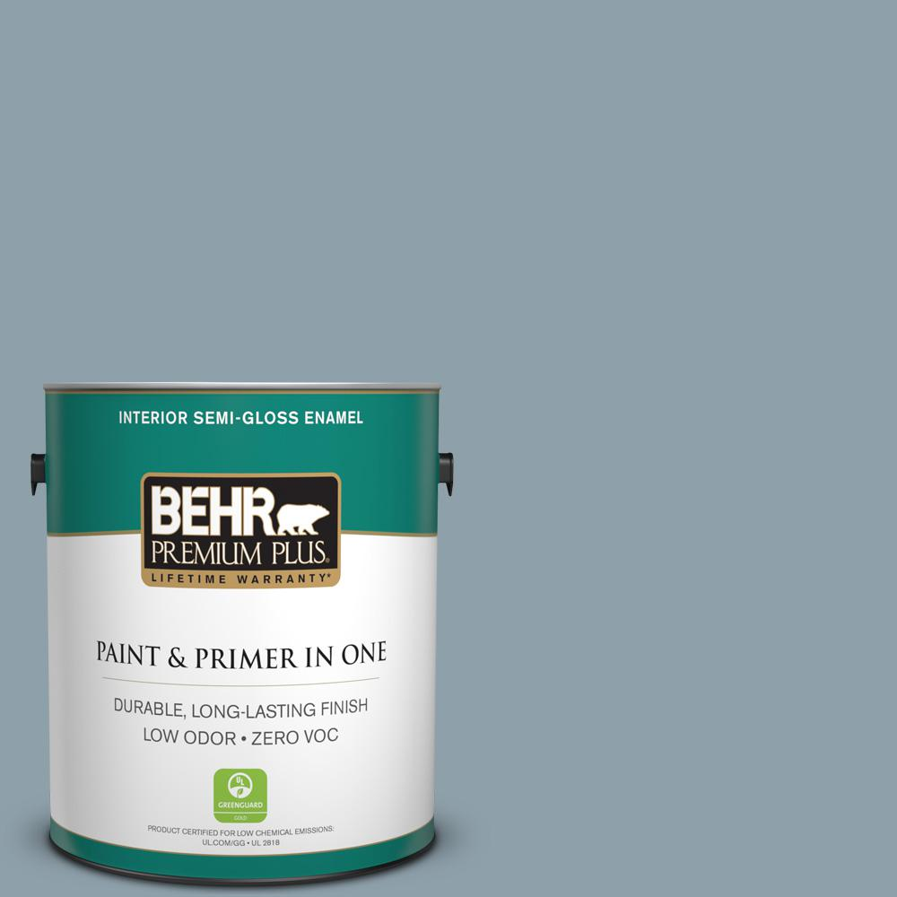 BEHR Premium Plus 1-gal. #N480-4 French Colony Semi-Gloss Enamel Interior Paint