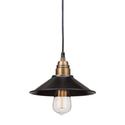 Amarillite Antique Black Gold and Brass Ceiling Lamp