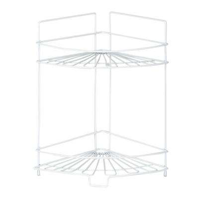 Balmain 2-Shelf Metal Kitchen Corner Shelf