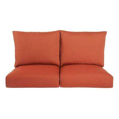 Highland Replacement Outdoor Loveseat Cushion in Cinnabar