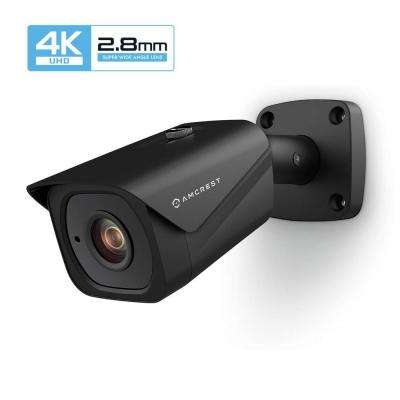 UltraHD 4K (8MP) Wired Outdoor Bullet POE IP Security Camera,131ft NightVision, 2.8mm Lens, IP67 Weatherproof