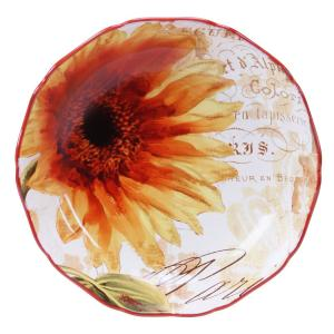 Paris Sunflower Pasta and Salad Serving Bowl by