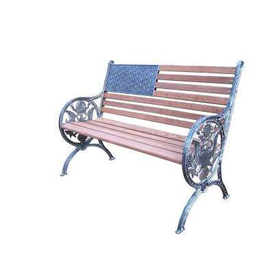 Proud American Patio Bench in Antique Pewter