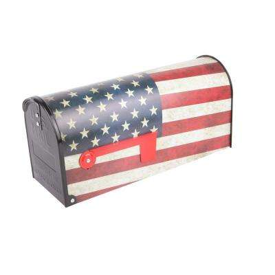 Post Mount Old Glory Mailbox