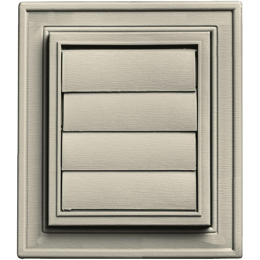 Builders Edge Square Exhaust Siding Vent #089-Champagne