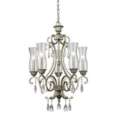 Havana 5-Light Antique Silver Chandelier