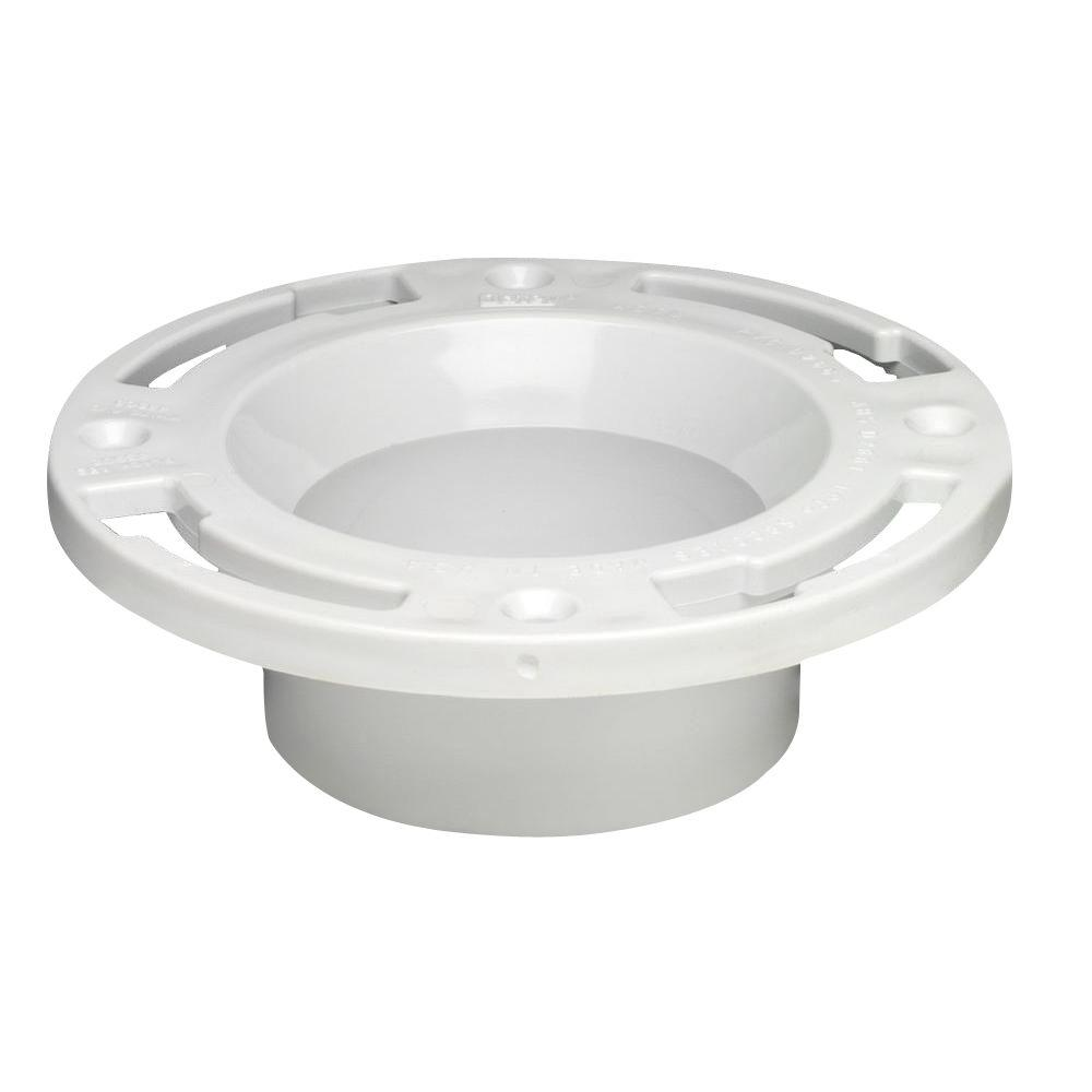 Oatey 3 in  PVC DWV Closet Flange with Test Cap-43507 - The