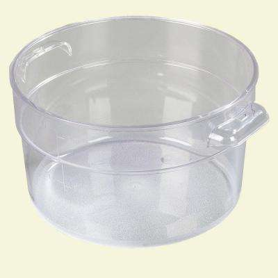 2 qt. Polycarbonate Round Storage Container in Clear (Case of 12)