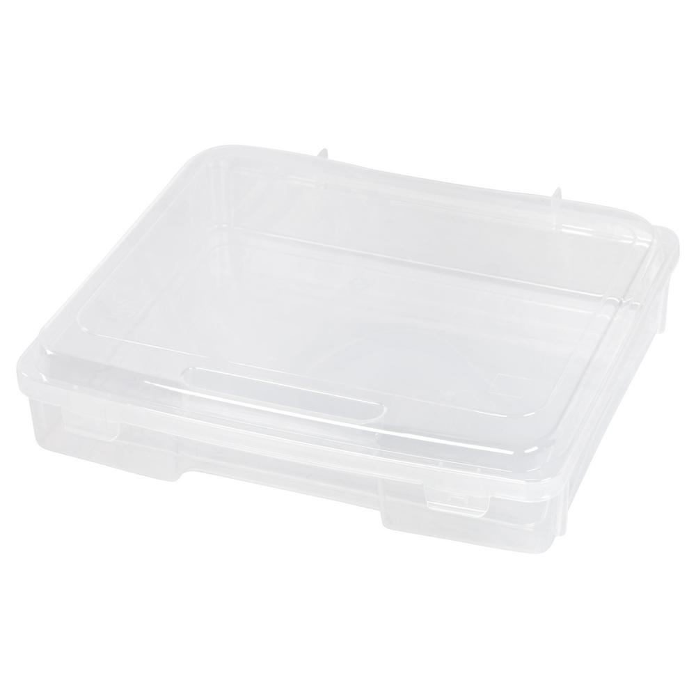 IRIS 7 Qt. Portable Project Storage Box in Clear